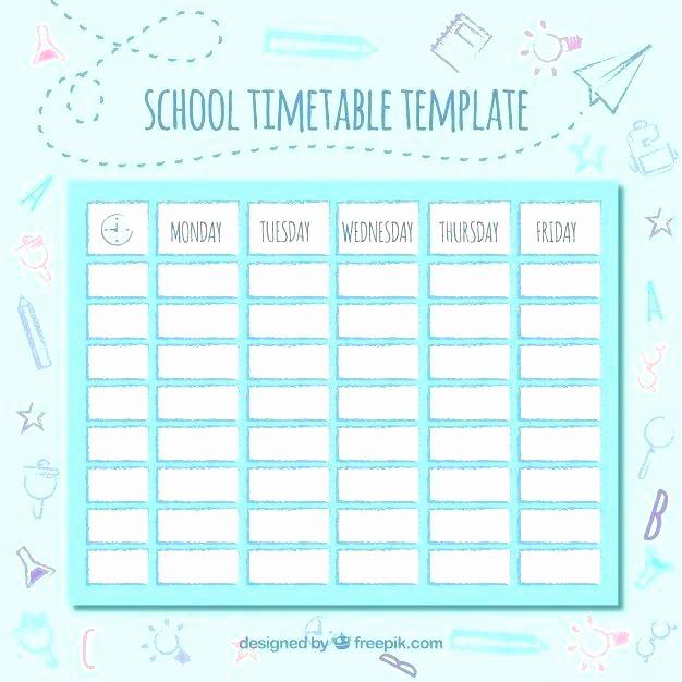 Daily Planner Template Google Docs Unique Cute Class Schedule Template Course Calendar Maker Daily