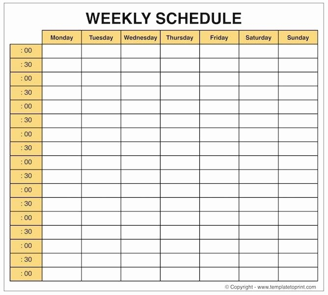 Daily Planner with Time Slots Best Of Weekly Planner Printable with Times Keni