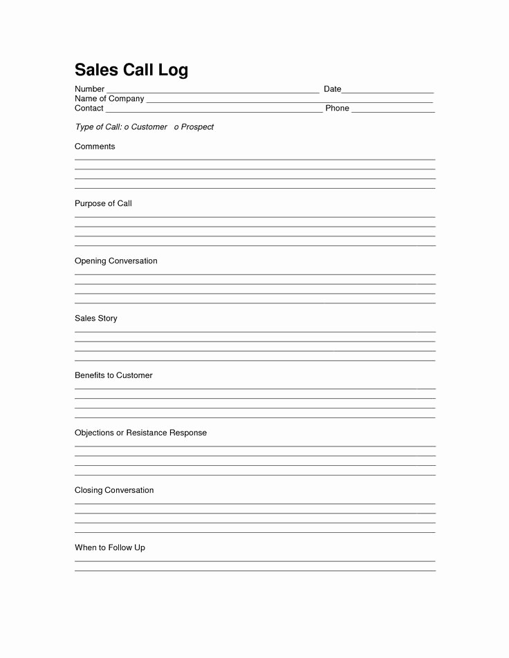 Daily Sales Call Sheet Template Awesome Sales Log Sheet Template Sales Call Log Template