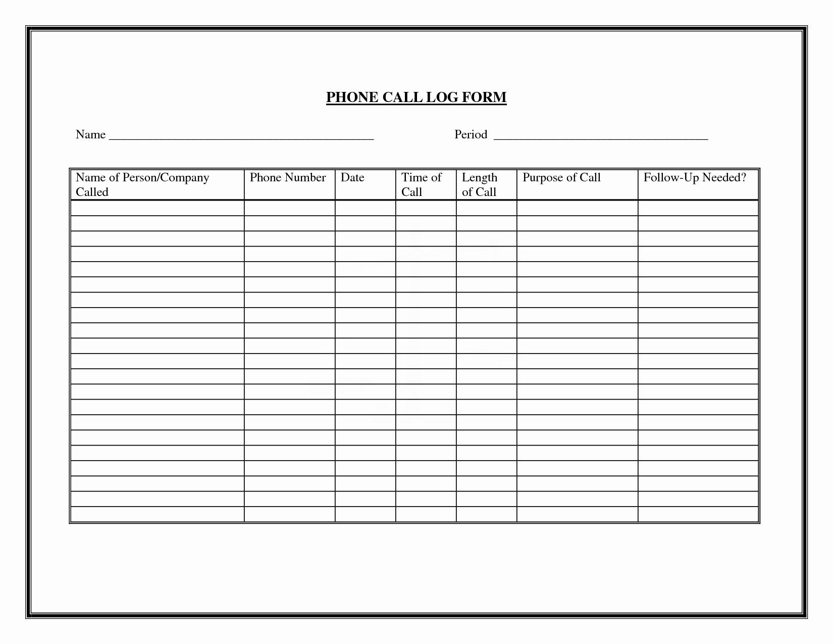 Daily Sales Call Sheet Template Best Of 9 Best Of Free Printable Phone Log form Free
