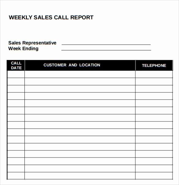 Daily Sales Call Sheet Template Elegant 14 Sales Call Report Samples