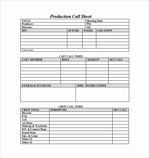 Daily Sales Call Sheet Template Unique Call Sheet Template