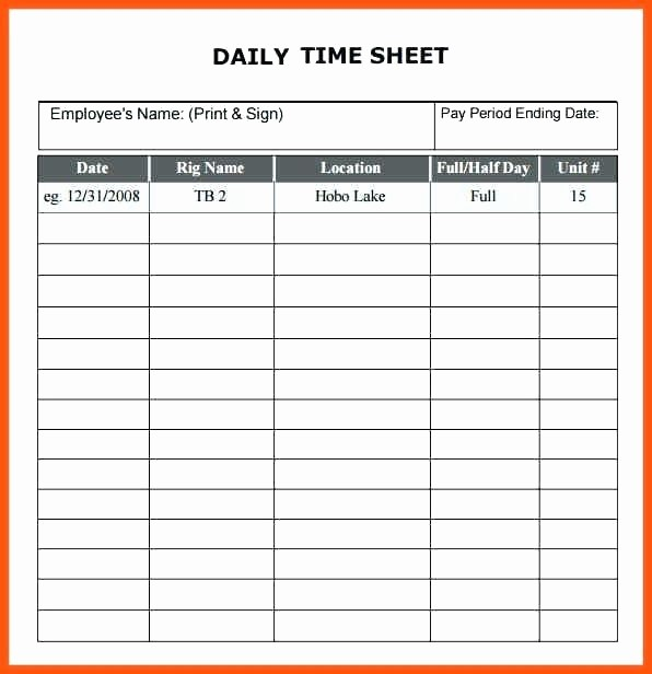 Daily Time Card Template Excel Beautiful Timecard Template Excel 2010 Excel Time Card Template