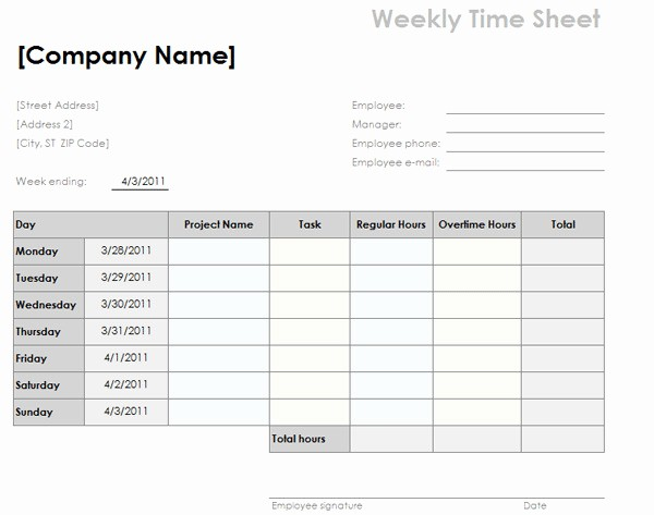 Daily Time Card Template Excel Fresh Basic Bi Weekly Timesheet Template Templates Resume