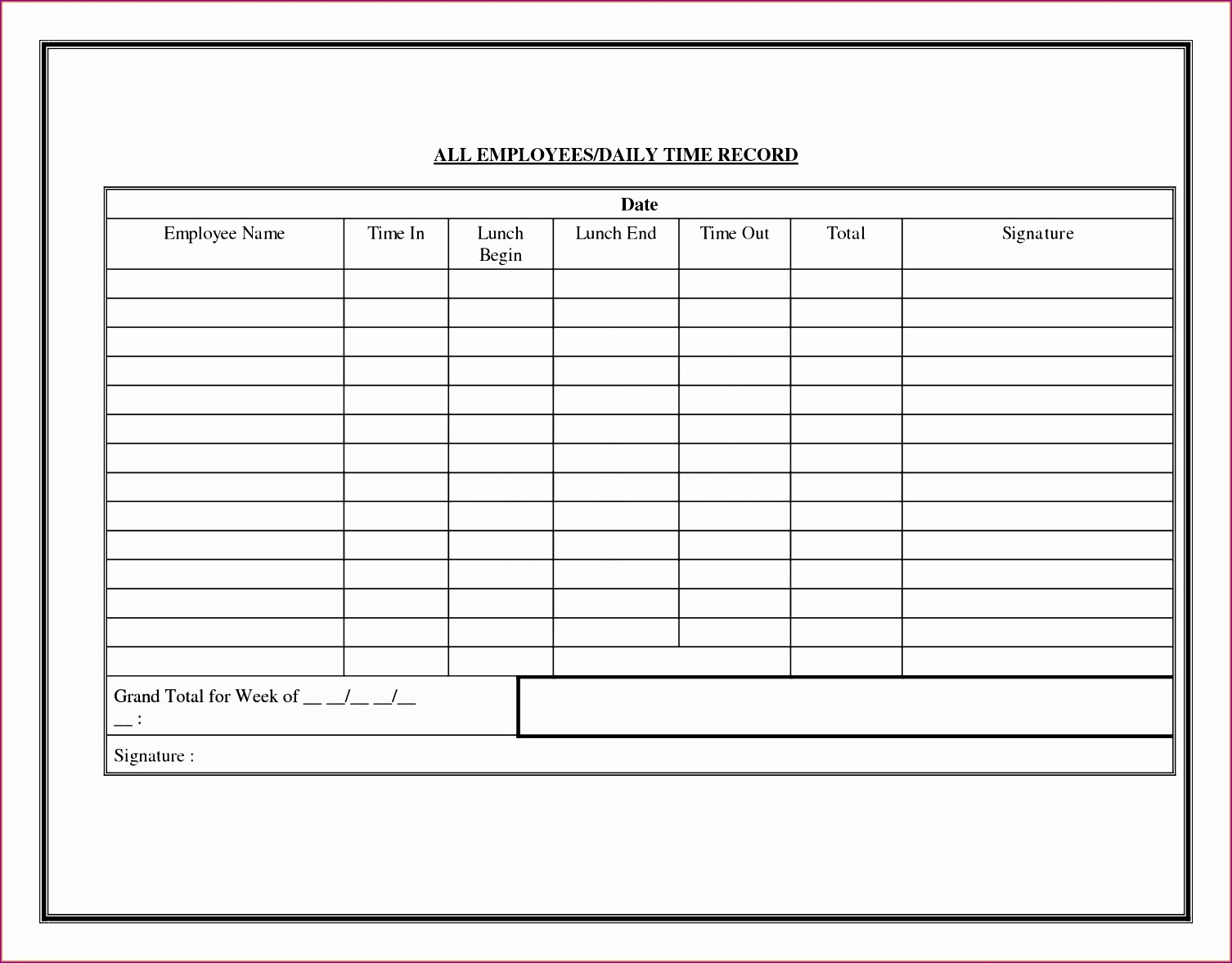 Daily Time Card Template Excel Lovely 10 Employee Time Card Exceltemplates Exceltemplates