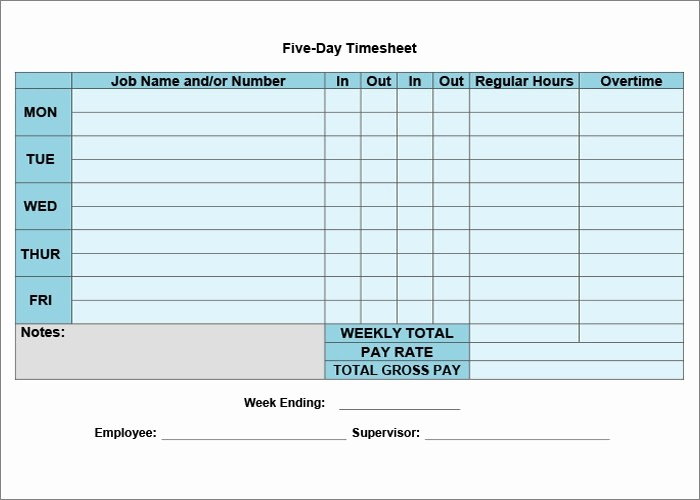 Daily Time Sheet Template Excel Beautiful 60 Sample Timesheet Templates Pdf Doc Excel