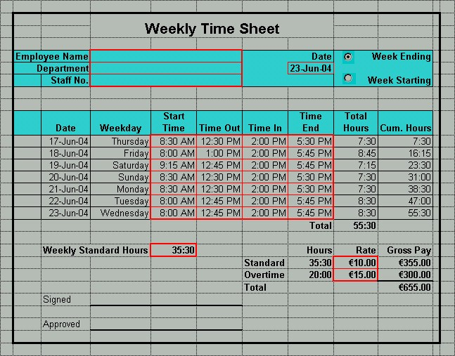 Daily Time Sheet Template Excel New Excel Timesheet Templates