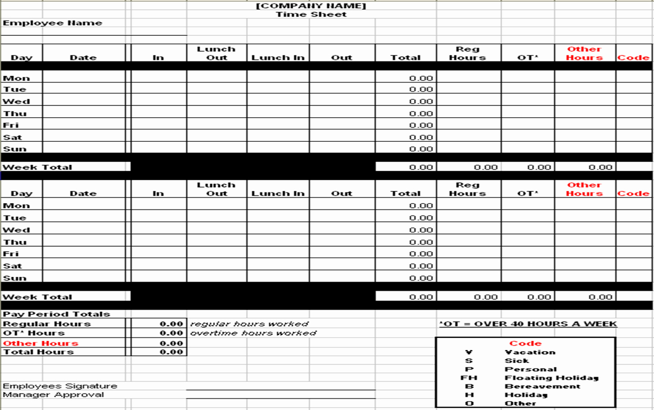 Daily Time Sheet Template Excel Unique Excel Timesheet Template Overtime Time Sheets Excel