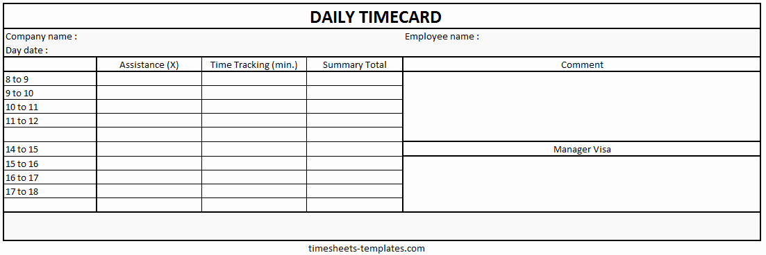 Daily Time Sheets Free Printable Awesome Ready to Use Microsoft Powerpont Blank Printable Daily