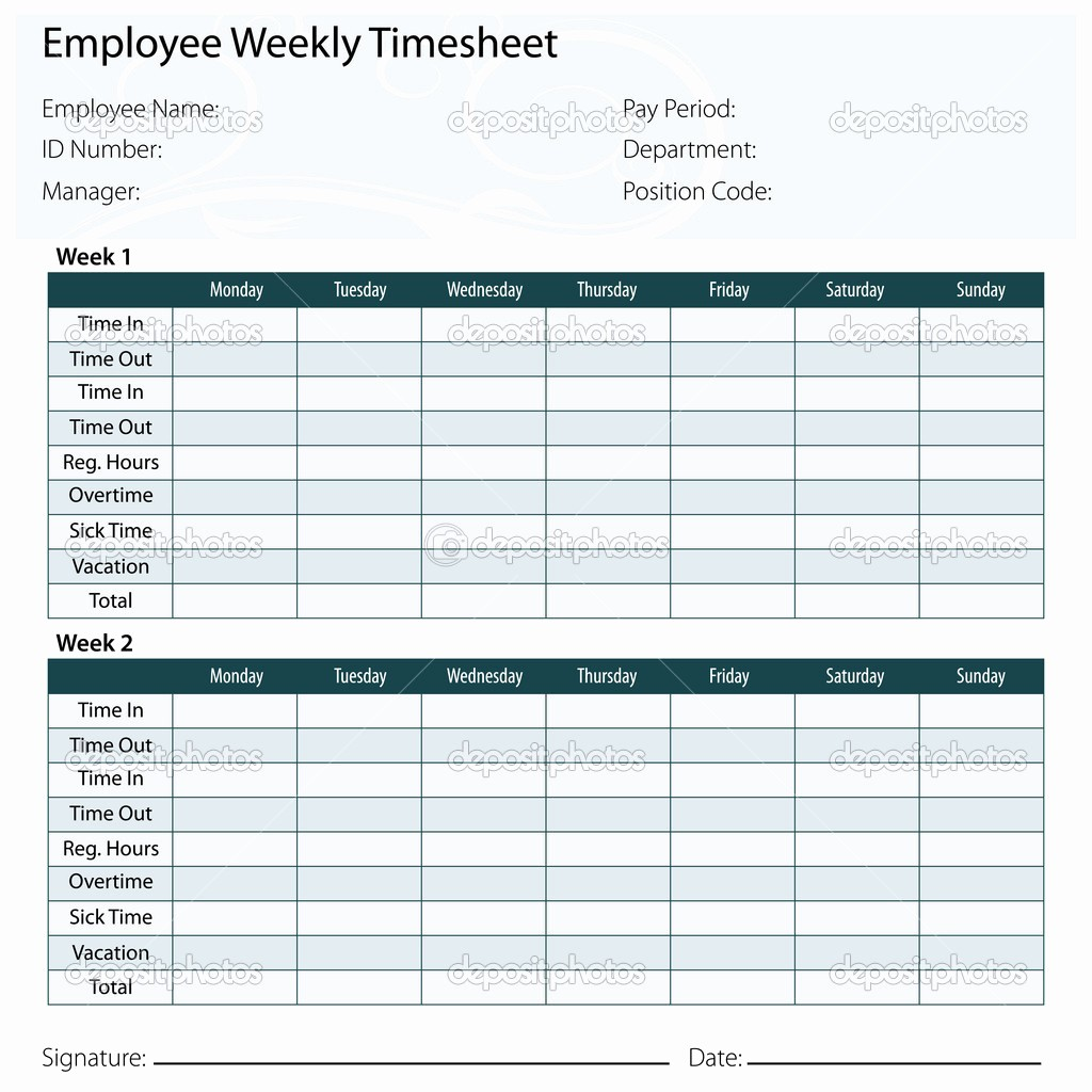 Daily Time Sheets Free Printable Beautiful 9 Best Of Printable Employee Timesheet Templates