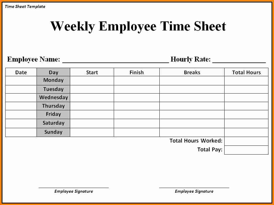 Daily Time Sheets Free Printable Fresh Sample Time Sheets to Print Sample Time Sheets to Print