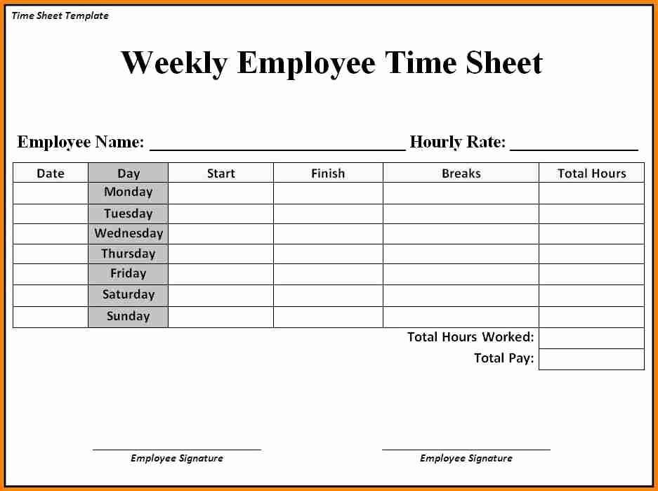 Daily Time Sheets Free Printable Fresh Sample Time Sheets to Print Sample Time Sheets to Print