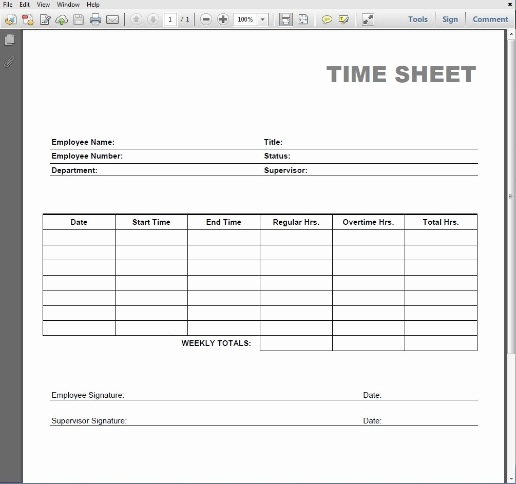 Daily Time Sheets Free Printable Inspirational 8 Best Of Blank Printable Timesheets Free