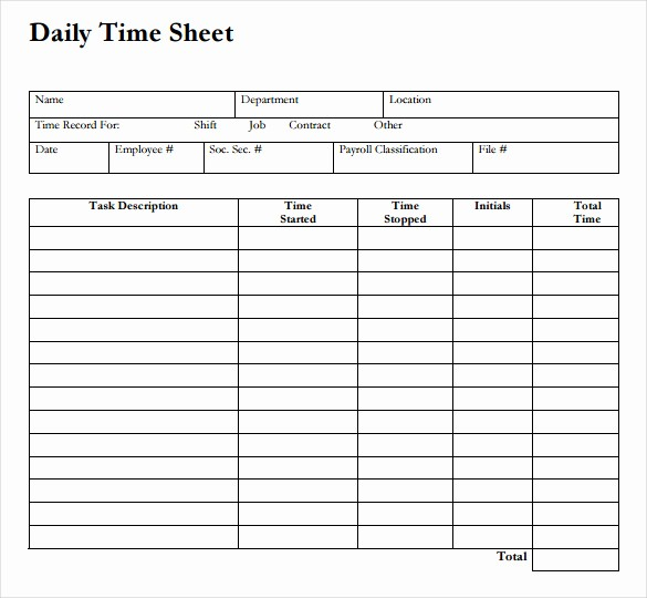 Daily Time Sheets Free Printable New Daily Time Sheet Printable Printable 360 Degree