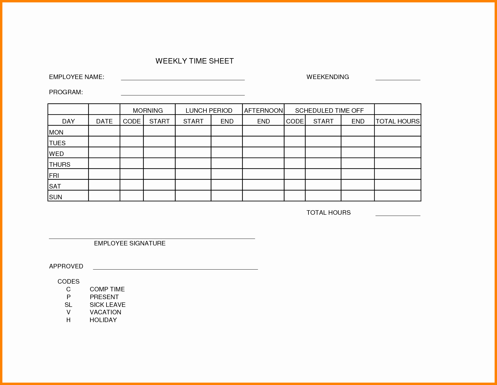 Daily Timesheet Template Free Printable Fresh 12 Free Printable Weekly Timesheet Template