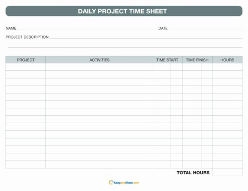 Daily Timesheet Template Free Printable Luxury 6 Best Of Printable Daily Time Sheet Free
