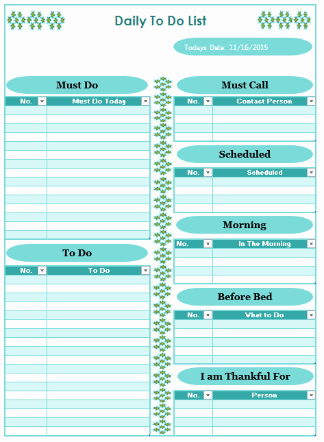 Daily to Do List Examples Awesome Daily to Do List Templates 10 Free Sample Templates