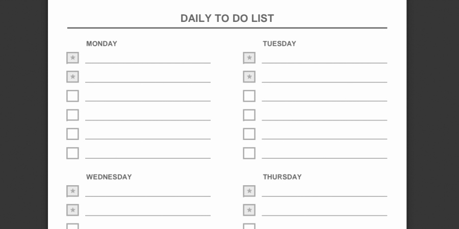 Daily to Do List Examples Beautiful Every to Do List Template You'll Ever Need