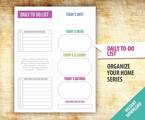 Daily to Do List Examples Lovely Daily to Do List Excel Template – Project Management