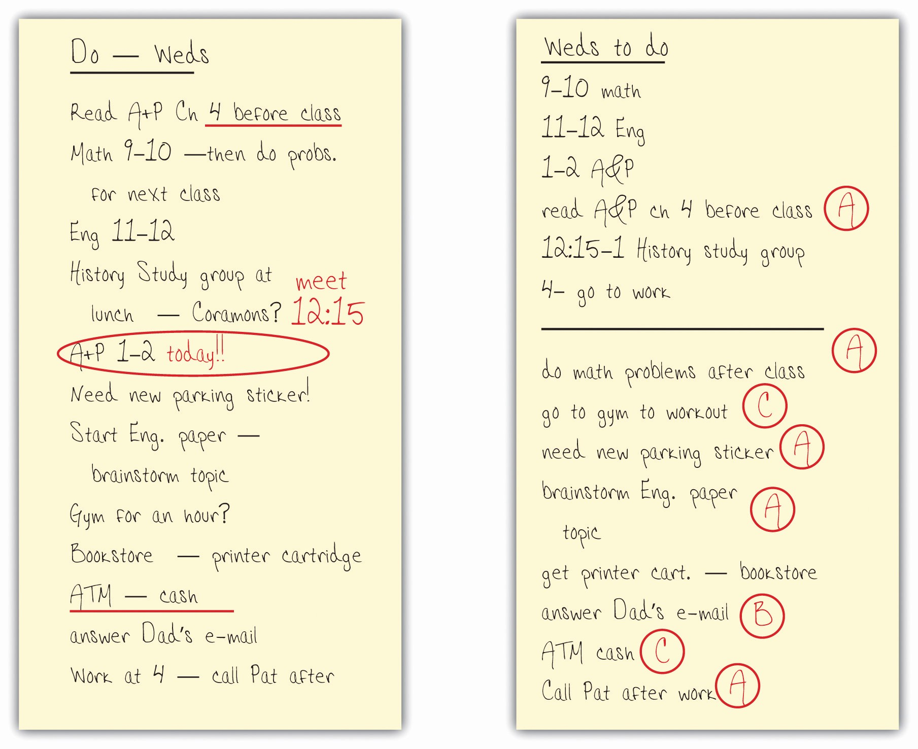 Daily to Do List Examples Lovely organizing Your Time