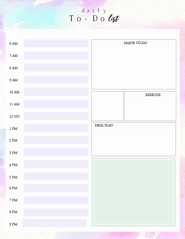 Daily to Do List Examples Luxury Printable Daily to Do List Template to Get Things Done