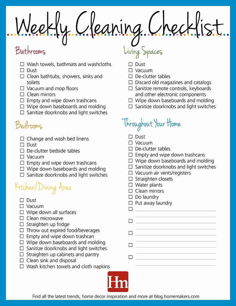 Daily Weekly Monthly Checklist Template Awesome Free Printables Daily Weekly & Monthly Cleaning Schedule