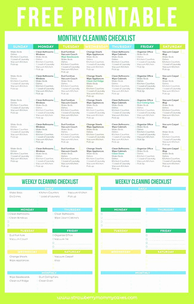 Daily Weekly Monthly Checklist Template Awesome House Cleaning Schedule Template Checklist Daily Weekly