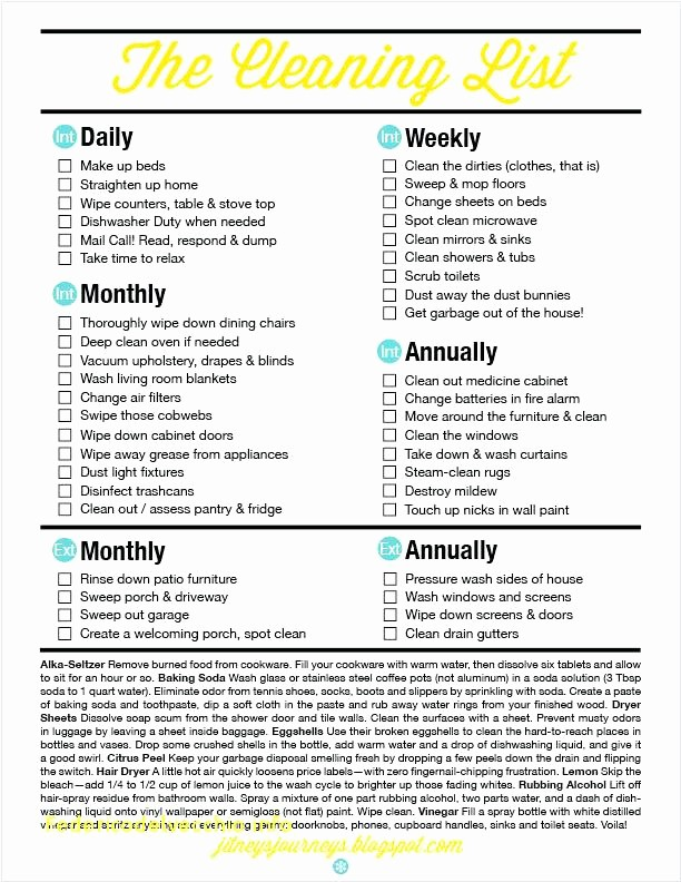 Daily Weekly Monthly Checklist Template Best Of House Cleaning Schedule Daily Weekly Monthly Free