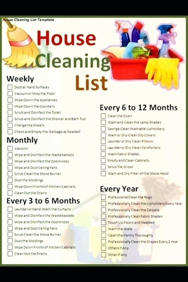 Daily Weekly Monthly Checklist Template Luxury House Cleaning Schedule Template Checklist Daily Weekly