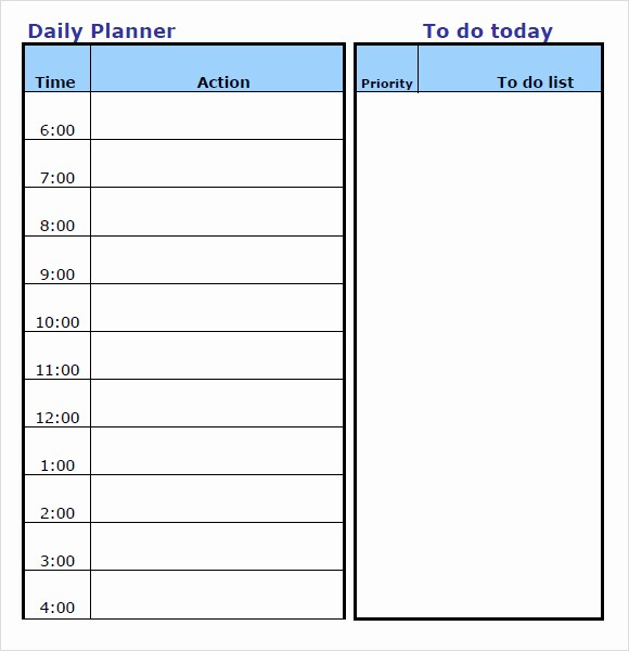 Daily Weekly Monthly Planner Template Beautiful Daily Planner Template