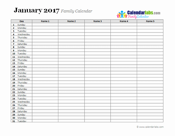 Daily Weekly Monthly Planner Template Elegant 2017 Monthly Planner Template Free Printable Templates