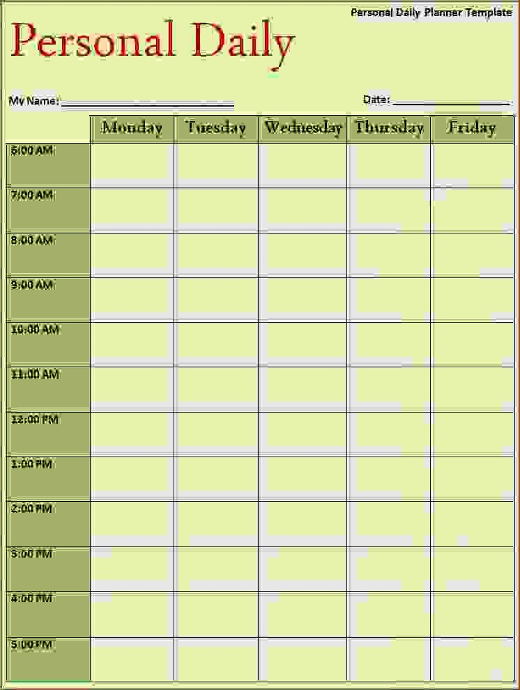 Daily Weekly Monthly Planner Template Lovely 13 Daily Planner Template