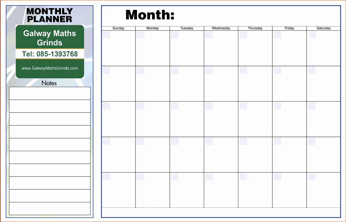Daily Weekly Monthly Planner Template New 10 Monthly Planner Template