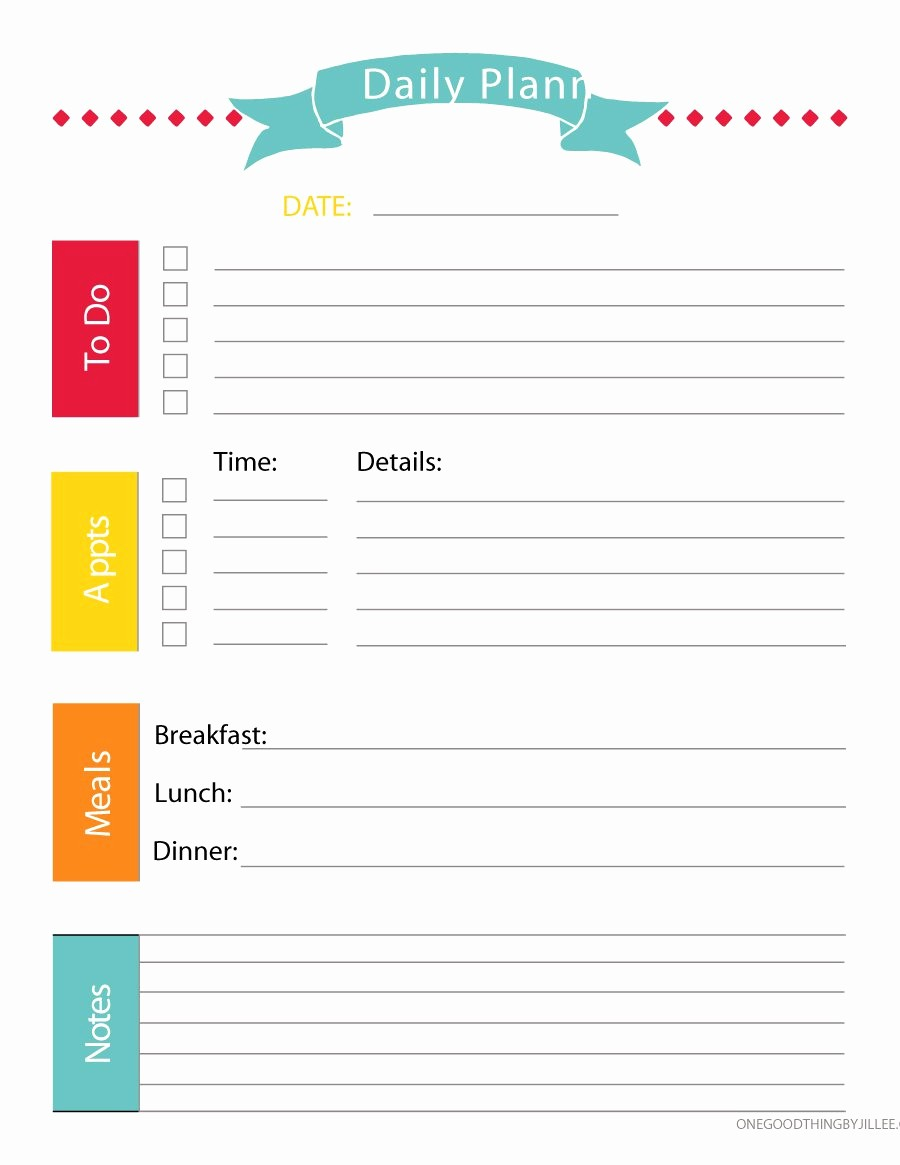 Daily Weekly Monthly Planner Template New 40 Printable Daily Planner Templates Free Template Lab