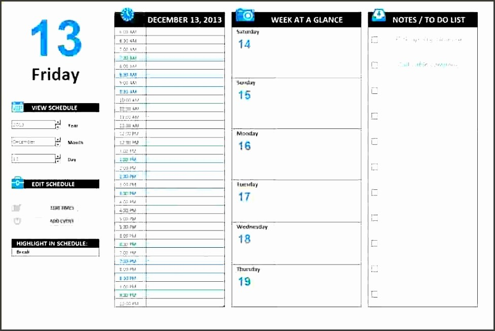 Daily Work Schedule Template Excel Awesome 10 How to Create Daily Work Schedule In Excel