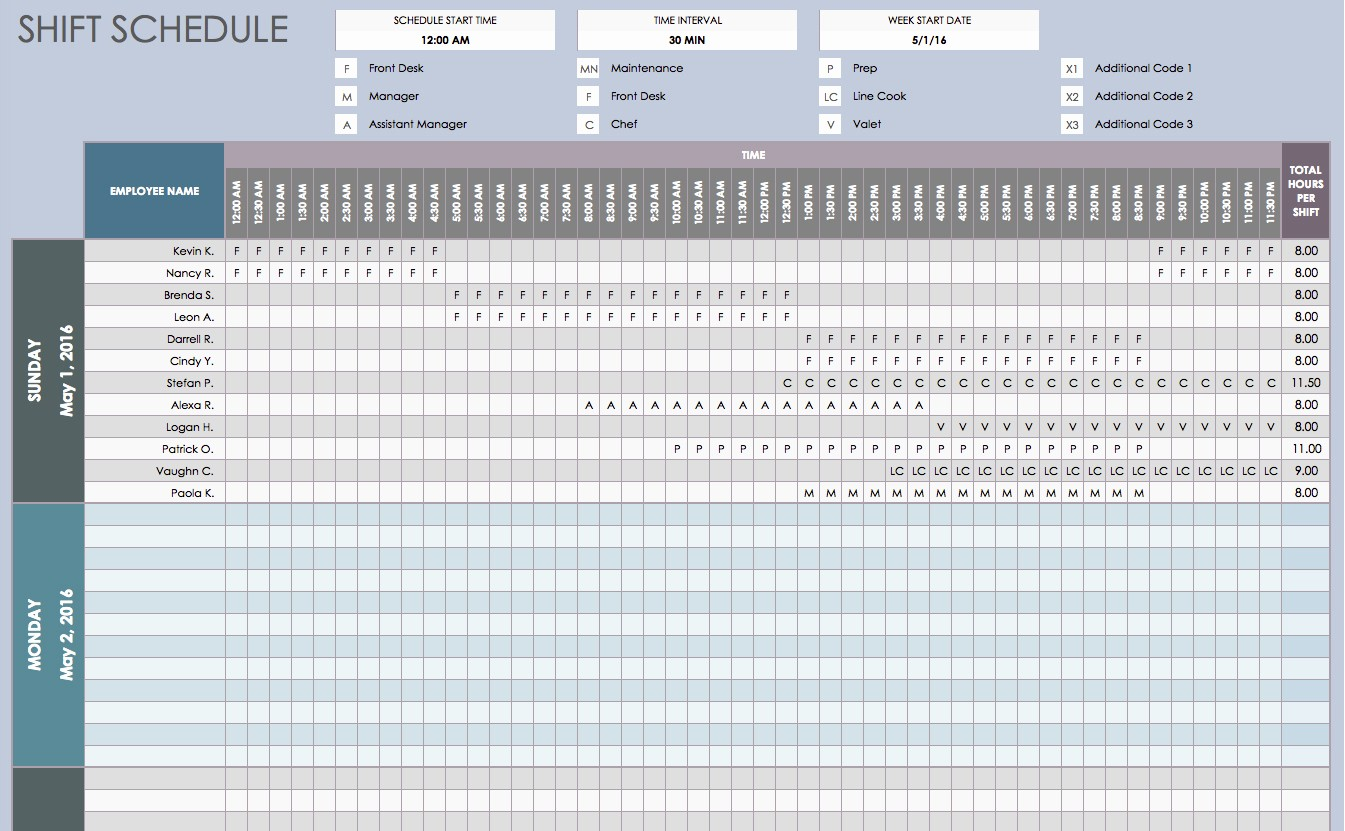 Daily Work Schedule Template Excel Awesome Free Daily Schedule Templates for Excel Smartsheet