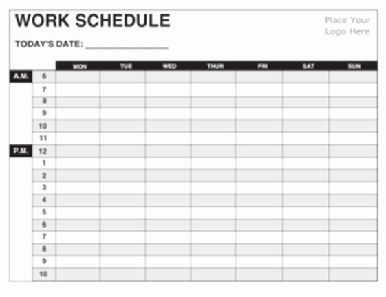 Daily Work Schedule Template Excel Beautiful 5 Daily Work Schedule Templates Excel Excel Xlts