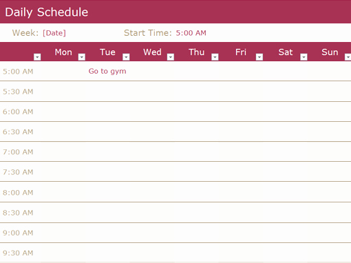 Daily Work Schedule Template Excel Beautiful Chore Schedule Fice Templates