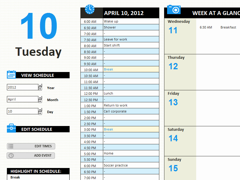 Daily Work Schedule Template Excel Inspirational Daily Work Log Template