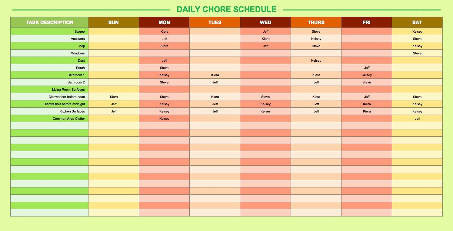 Daily Work Schedule Template Excel Lovely Free Daily Schedule Templates for Excel Smartsheet