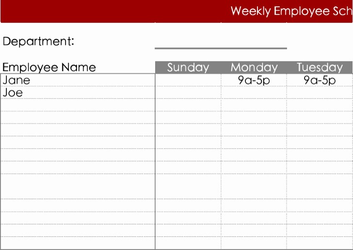 Daily Work Schedule Template Excel Unique 11 Daily Work Schedule Template Free Download
