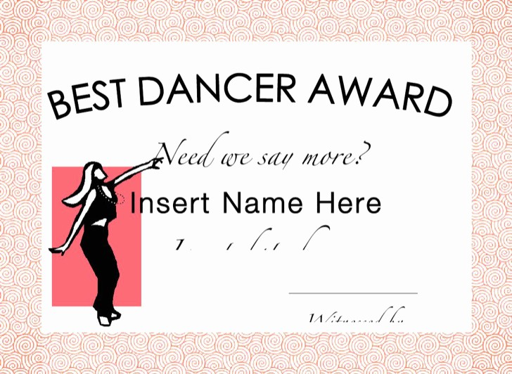 Dance Certificate Templates for Word Awesome 9 Funny Certificate Templates Free Download