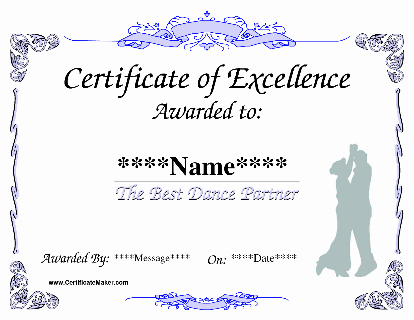 Dance Certificate Templates for Word Beautiful 8 Best Of Dance Award Certificate Templates Free