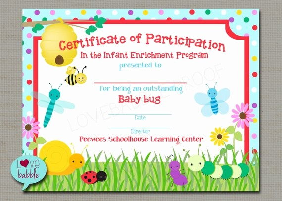 Dance Certificate Templates for Word Best Of Bugs Award Spring School Gymnastics Dance Tumbling Preschool