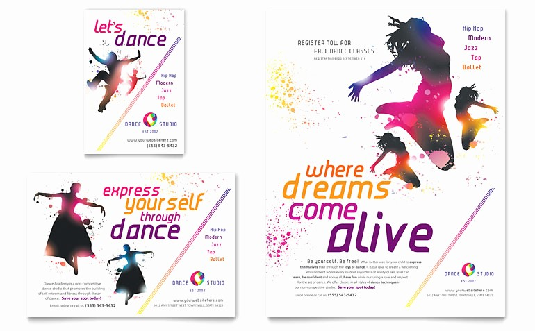 Dance Certificate Templates for Word Best Of Dance Studio Flyer & Ad Template Word & Publisher