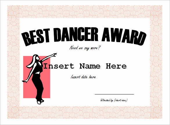 Dance Certificate Templates for Word Fresh 10 Funny Certificate Templates – Free Word Pdf Documents