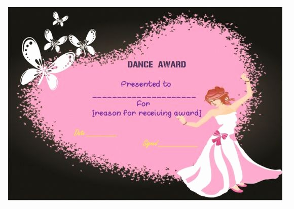 Dance Certificate Templates for Word Fresh Dance Certificate Template 26 Free Certificates for