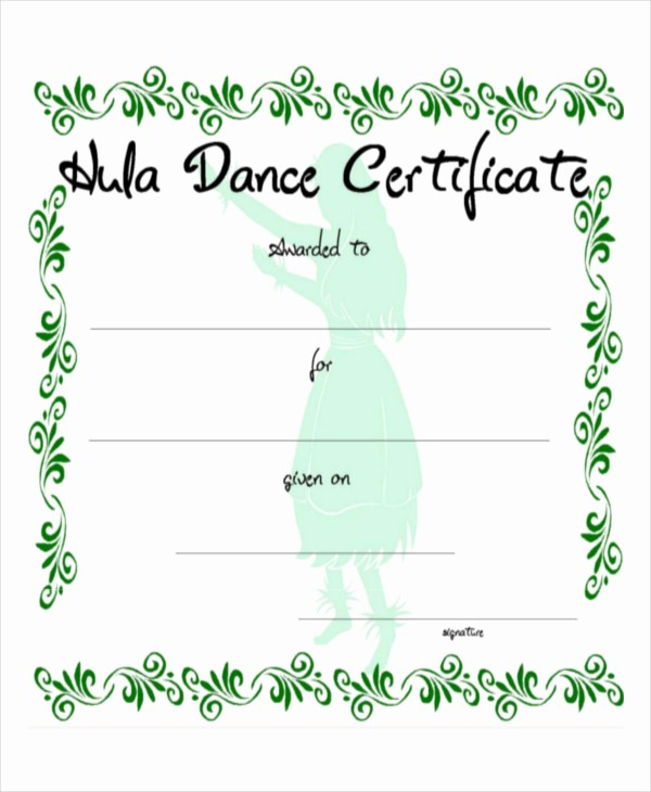 Dance Certificate Templates for Word Inspirational 8 Sample Certificate Templates – Free Sample Example