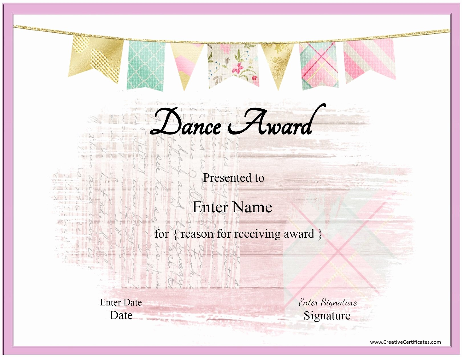 Dance Certificate Templates for Word Lovely Awesome Free Printable Award Certificates