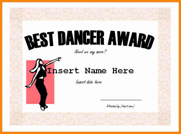 Dance Certificate Templates for Word Luxury 7 Free Funny Certificate Templates for Word